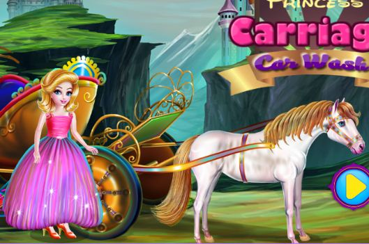 Princess Carriage Car Wash Game