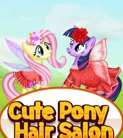 Cute Pony Hair Salon Game