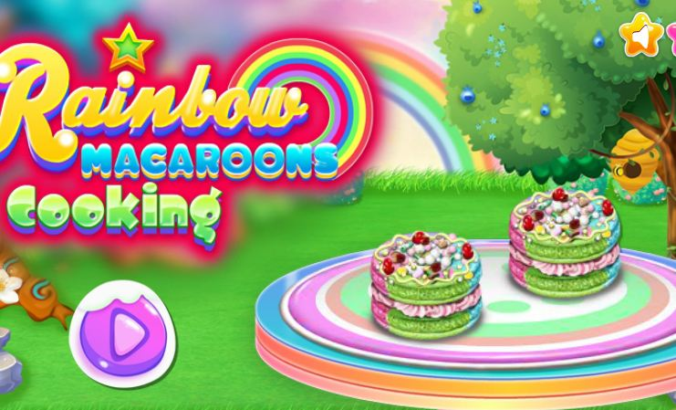 Rainbow Macaroons Cooking Game