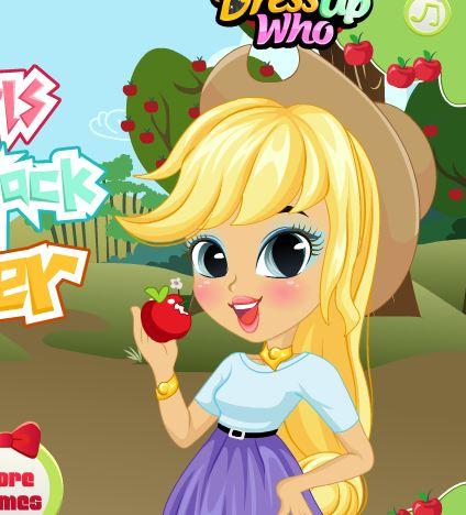 Equestria Girls Applejack Makeover Game
