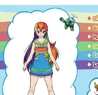 Rainbow Dash Dress Up 2 Game