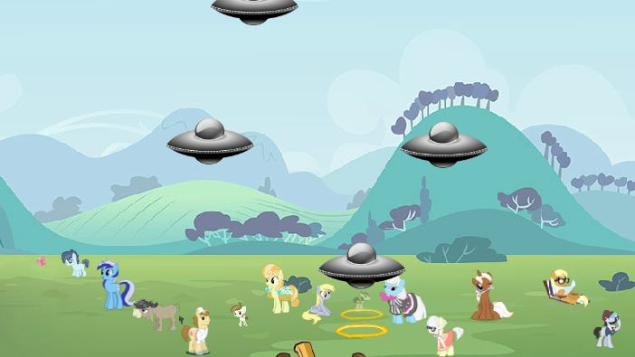 Ufo Repel With Ponies Game