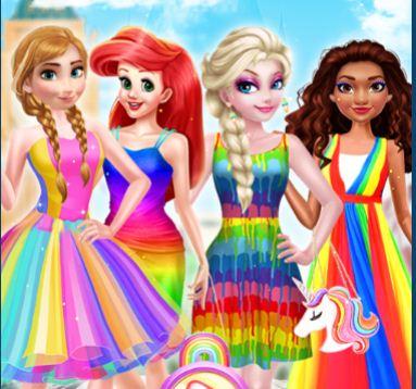 Princess Rainbow Style Fashion Game