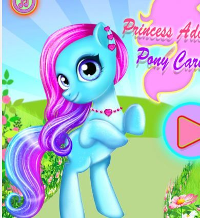 Princess Adorable Pony Caring Game