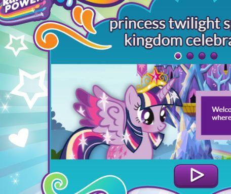 Princess Twilight Sparkle Kingdom Celebration Game