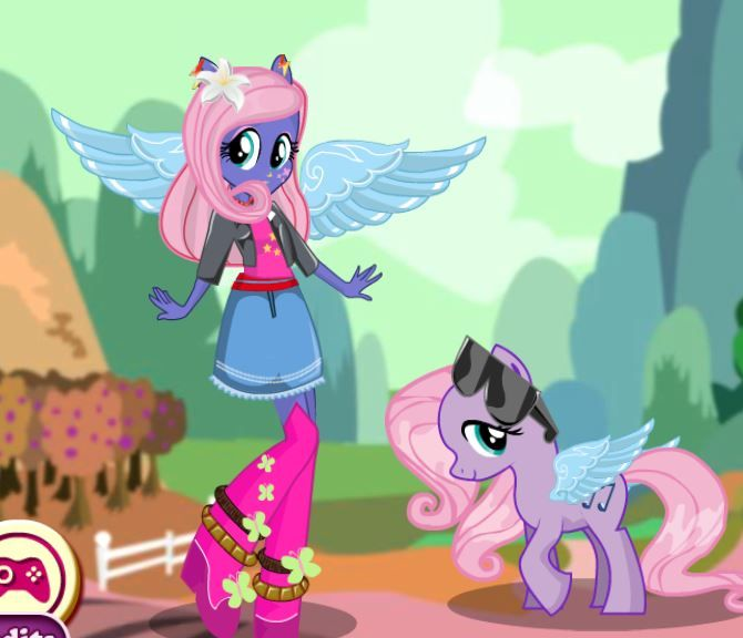 Fluttershy Pony Dress Up Game