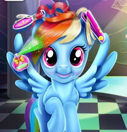 Rainbow Pony Real Haircuts Game