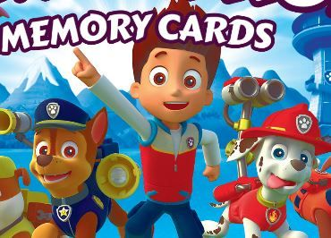 Paw Patrol Memory Cards Game