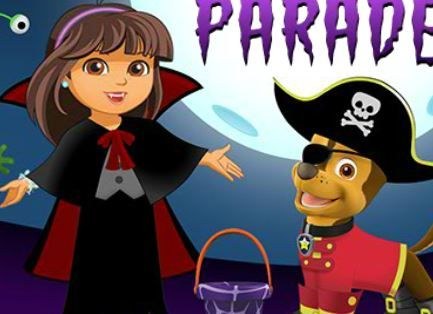 Nick Jr Halloween Dress Up Parade Game