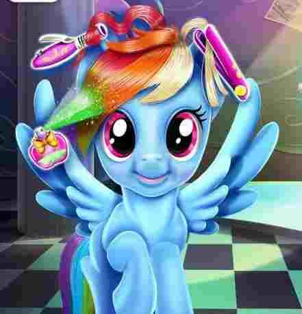 Rainbow Pony Real Haircuts Game