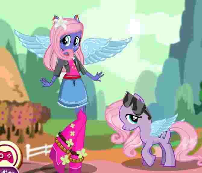 Fluttershy Pony Dress Up Game