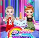 Little Anna Unicorn Cake Make Game