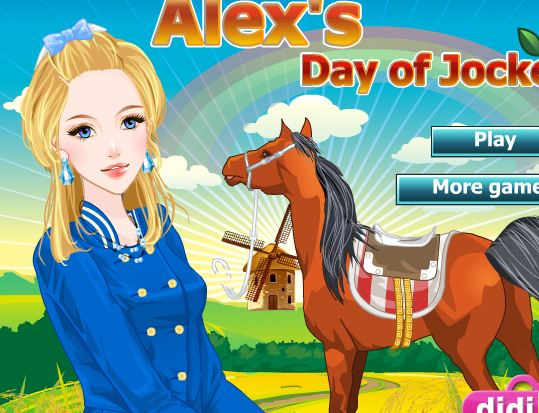 Alex Jockey Dress Up Game
