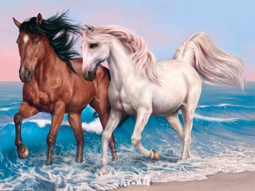 Animals Jigsaw Puzzle   Horses Game