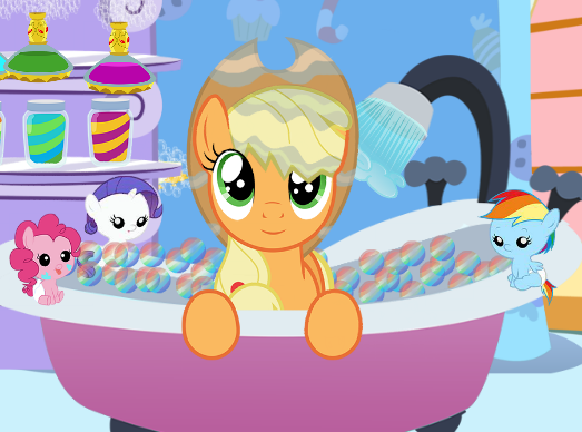 Applejack Bubble Bath Game