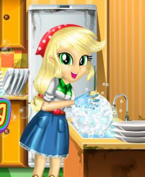 Applejack Great Cleaning Game