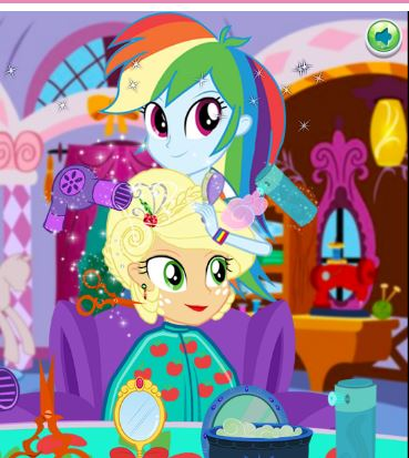 Applejack New Hairstyle Game