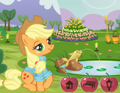 Applejack's Garden Decoration Game