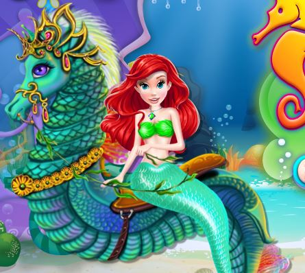 Mermaid Sea Horse Caring Game