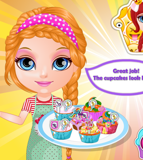 Baby Barbie Little Pony Cupcakes Game