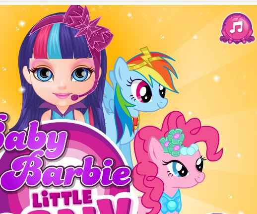 Baby Barbie Little Pony Game