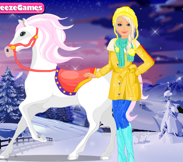 Barbie's Winter Pony Game