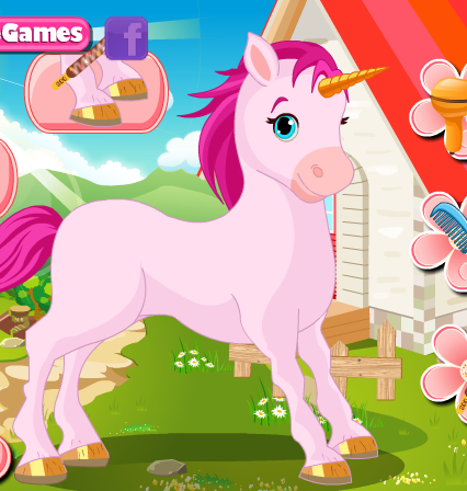 Ca Cupid's Unicorn Care Game