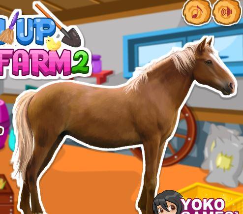 Clean Up Horse Farm 2 Game