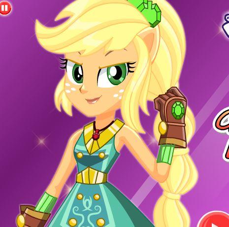 Crystal Guardian Applejack Dress Up Game