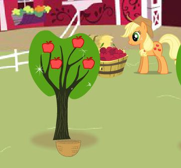 Cute Pony Picking Apples Game