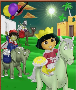 Dora And Diego Online Coloring Game