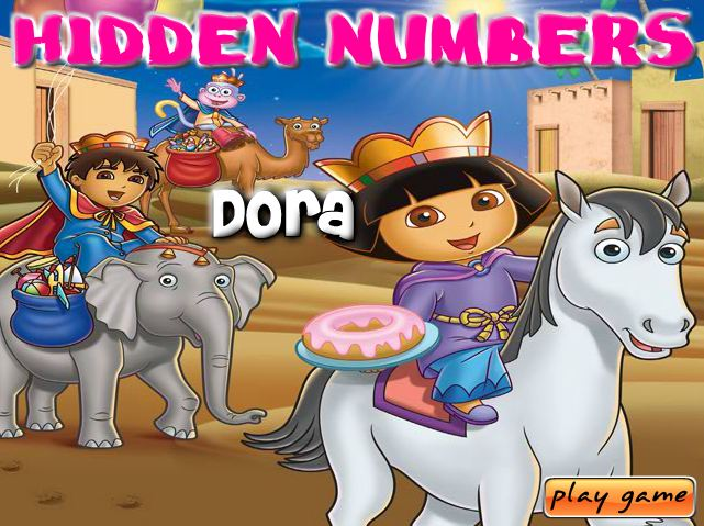Dora Hidden Numbers Game