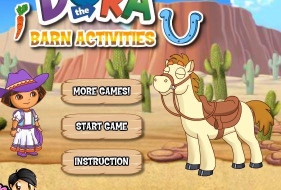 Dora The Barn Activities Game