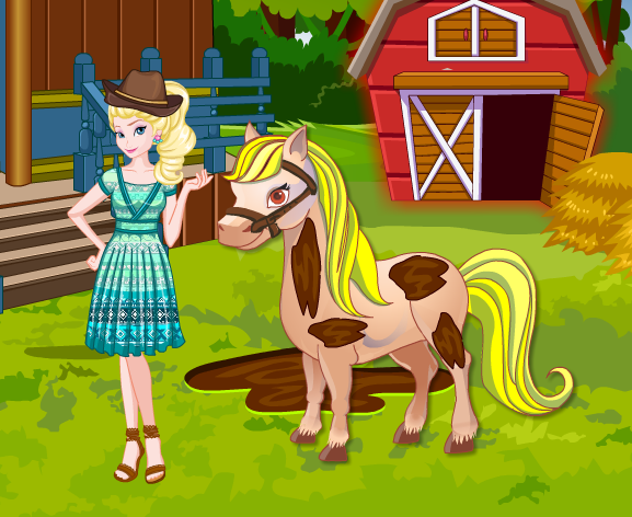 Elsa At Horse Farm Game