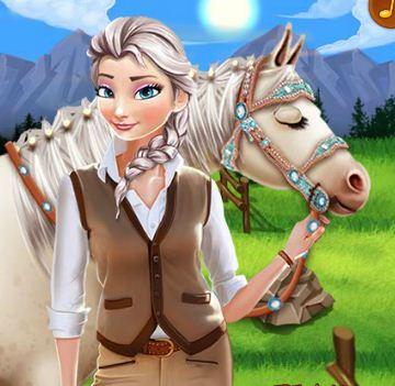 Elsa's Horse Caring Game