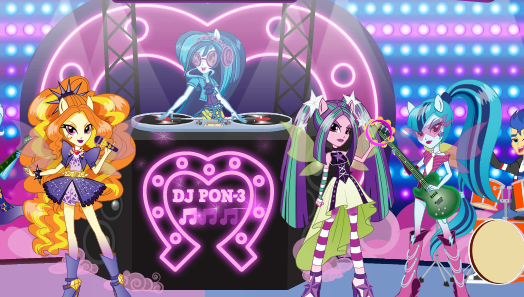 Equestria Girls Battle Of The Bands Online Game