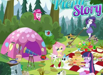 Equestria Girls Picnic Story Game