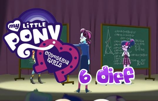 Equestria Girls Six Differences Game