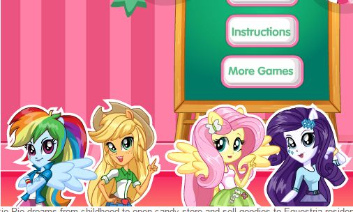 Equestria Girls Sweet Game