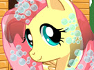 Fluttershy Makeover Hair Salon Game