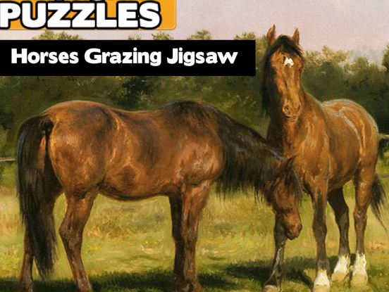 Horses Grazing Jigsaw Game