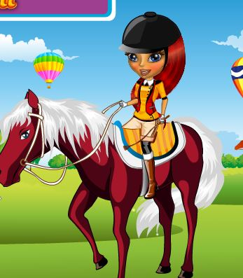 Lisa Goes Horse back Riding Game