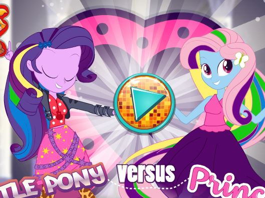 Little Pony Versus Princess Outfits Game