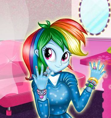 Manicure For Rainbow Dash Game