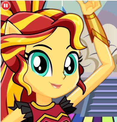 My Little Pony Dance Magic Sunset Shimmer Game