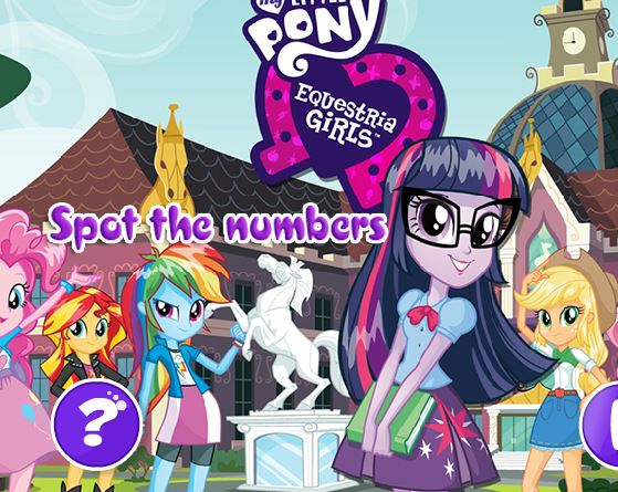 My Little Pony Equestria Girl Spot The Numbers Game