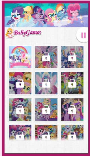 My Little Pony Jigsaw Game