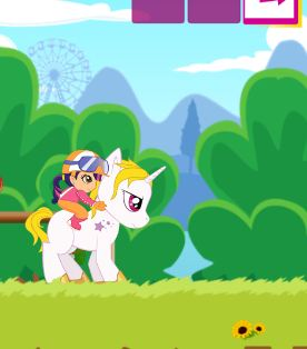 My Little Pony Riding With Obstacles Game