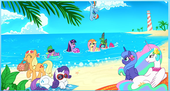 My Little Pony Sea Beach Puzzle Game
