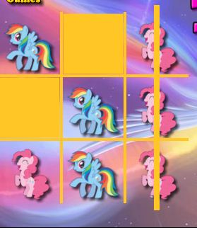 My Little Pony Tic Tac Toe Game